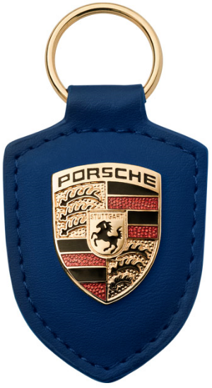 Picture of Crest Keyring Leather Blue