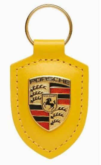Picture of Crest Keyring Leather Speed Yellow