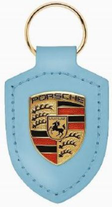 Picture of Crest Keyring Leather Frozen Blue